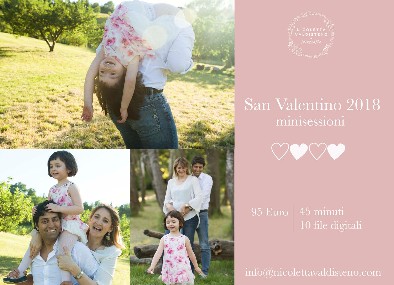 Regala minisessione fotografica San Valentino Bologna
